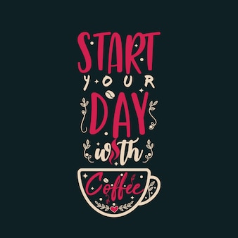 コーヒーで一日をスタート