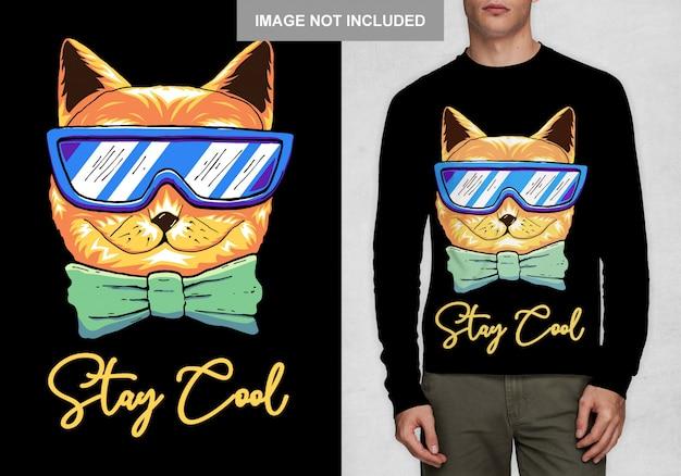 Оставайся крутым типография футболка дизайн вектор
