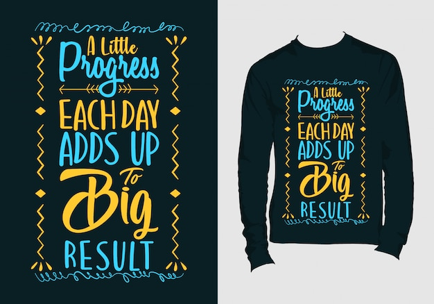 Надпись цитаты. ручной обращается типография дизайн футболки
