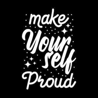 タイポグラフィデザイン「自分を誇りに思う」