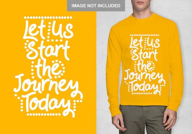Давайте начнем путешествие сегодня