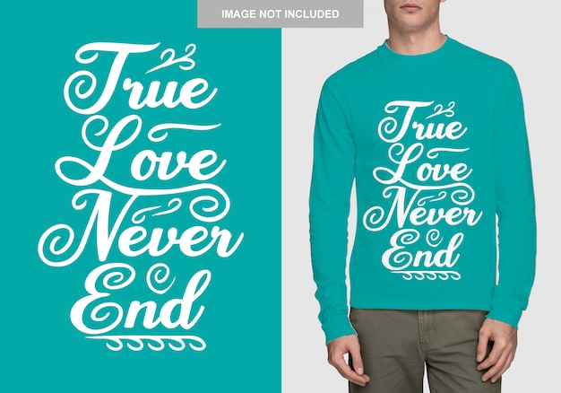 Надпись дизайн рубашки. ручной обращается типографика