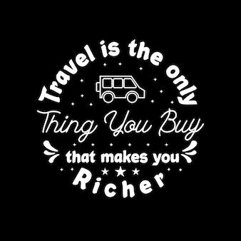 Путешествия типографии для футболки