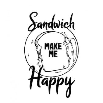 Сэндвич порадовал меня дизайном типографики