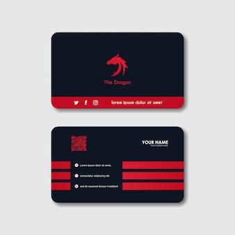 Визитная карточка с логотипом дракона
