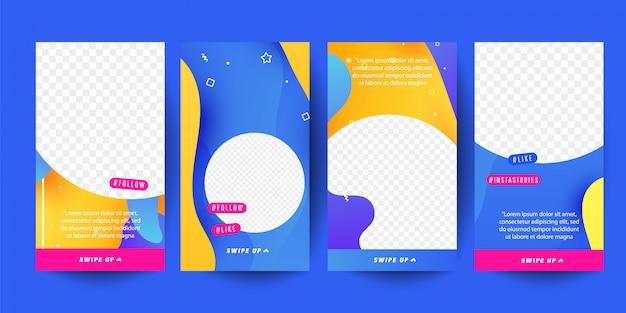 Шаблон истории для социальных сетей. редактируемый дизайн обложки для фотографий.