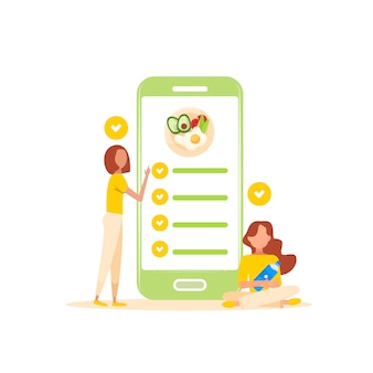 健康的なライフスタイルのモバイルアプリ