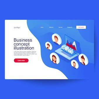 顧客関係管理のコンセプトです。ビジネスと技術のアイデア