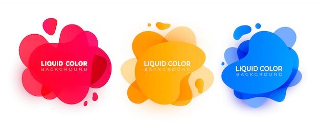 抽象的な現代的な液体要素のセット。