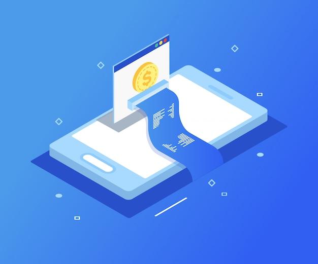 支払いオンライン電子、スマートフォンによる支払い。