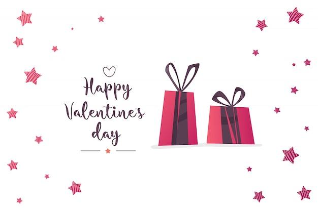 愛とバレンタインの日のイラスト。