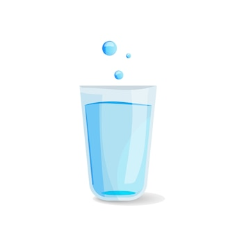 水のガラスのアイコン。