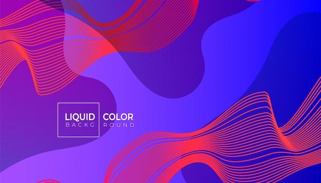 グラデーションカラーの抽象的な幾何学的な背景とライン