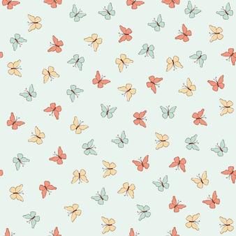 Бабочка одежда весна бесшовные шаблон
