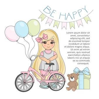 デジタルプリント、祝日、壁アート、スクラップブックのための幸せな女の子