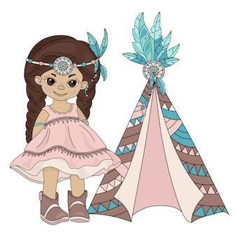 Покахонтас вигвам индийская принцесса