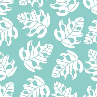 要旨トロピカル葉のシームレスなパターン