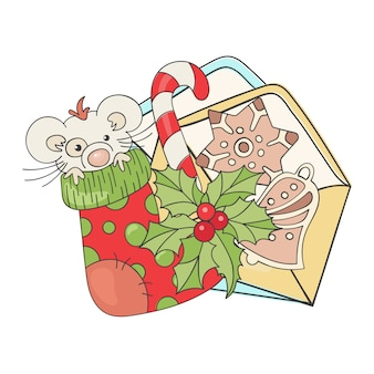幸せな新しいマウスクリスマス漫画