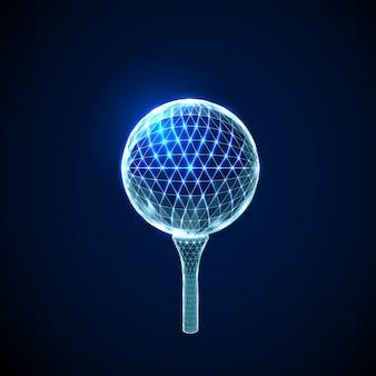 抽象的なゴルフボール