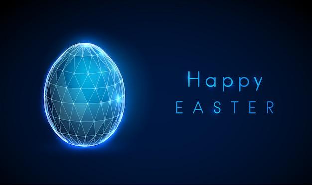 抽象的な卵イースター、おめでとう