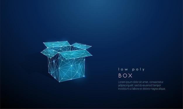 Абстрактная открытая коробка