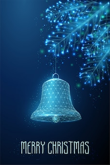 新年あけましておめでとうございます、メリークリスマスのグリーティングカード。