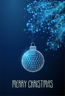 抽象的なクリスマスグッズ。低ポリスタイルのデザイン。
