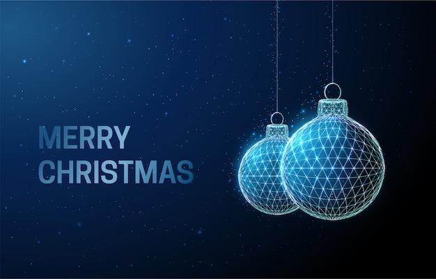 Абстрактная поздравительная открытка с рождественскими игрушками