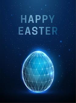 Абстрактное яйцо. счастливой пасхи. низкий поли стиль дизайна.