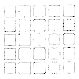 さまざまな形の多数のフレーム