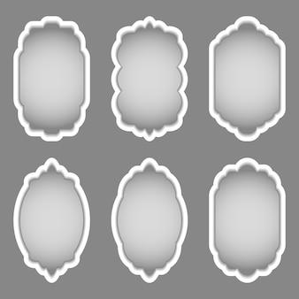 さまざまな形のカラフルなフレームのセット。