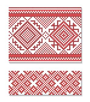 Иллюстрация украинского орнамента бесшовные.