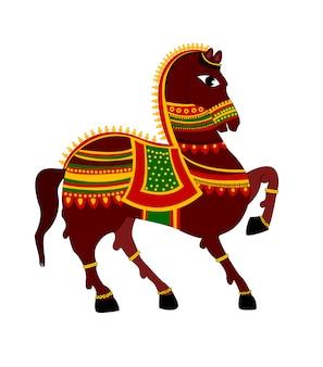 Красочная лошадь, изолированная на белом