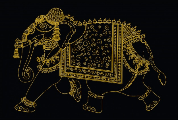 象のベクトルイラスト