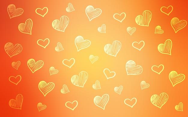 落書きの心を持つライトオレンジベクトルテンプレート
