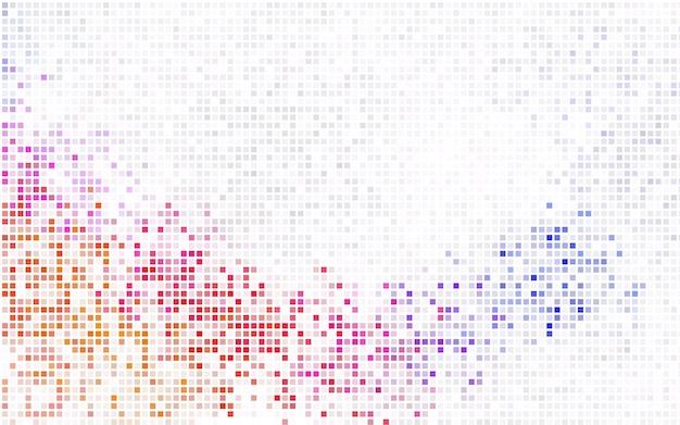 Светло-фиолетовый векторный фон из прямоугольников и квадратов