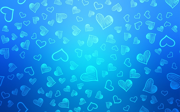 甘い心を持つライトブルーのベクトルレイアウト
