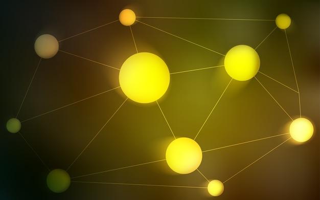 黄色のベクトルテンプレートと円