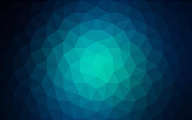 三角形のカバーを輝くライトグリーンのベクトル。