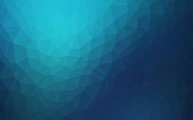 暗い青ベクトル低ポリ背景。