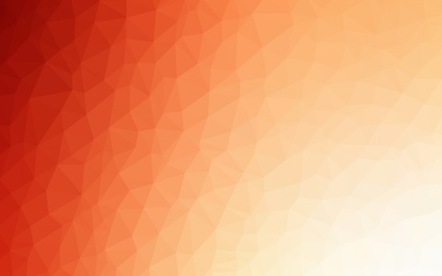 ライトオレンジ色のベクトル三角形モザイクの背景。