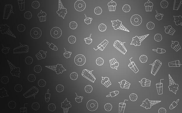 Светло-серый векторный шаблон со сладкими закусками