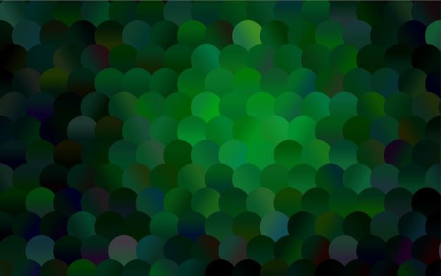 色のついた球が入ったダークグリーンベクトルパターン