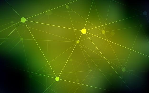 球形のイエローベクトルパターン