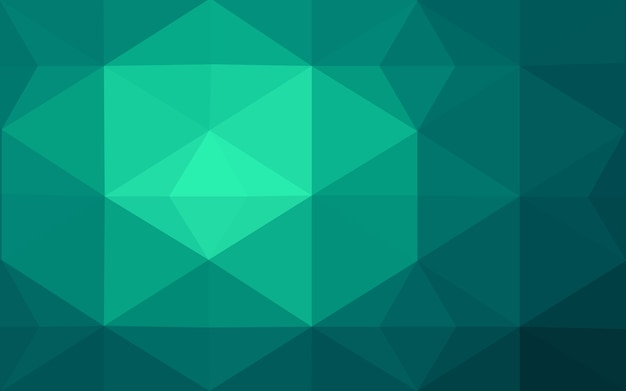 ライトグリーンベクトル多角形イラスト