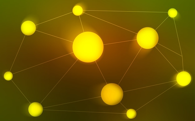 円で囲まれた黄色のベクターレイアウト