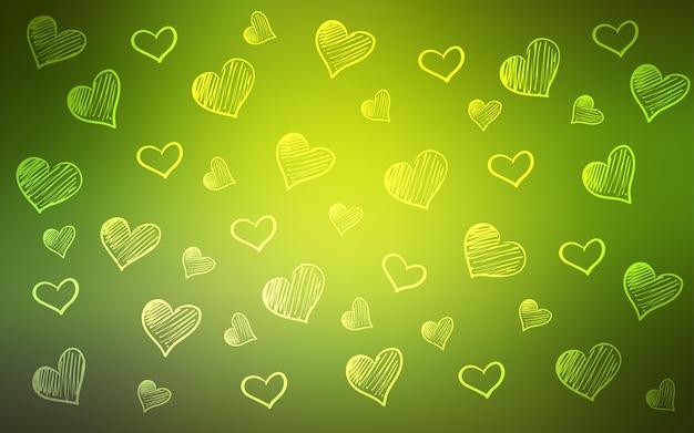 心の黄色のベクトルの背景