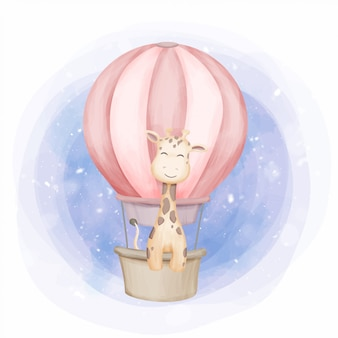 気球でキリンを飛ばす