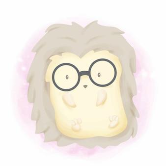 メガネで面白い赤ちゃんヤマアラシ