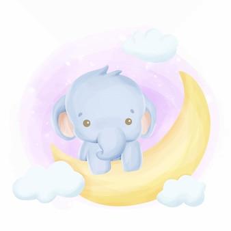 月の象の赤ちゃん